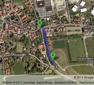 Googlemaps - Karte mit Fussweg
